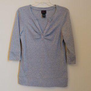 Torrid Glitter gray 3/4th Sleeve Knit Top Size 0X